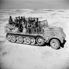 "German Sdkfz8 in North Africa in British hands • <a style=""font-size:0.8em;"" href=""http://www.flickr.com/photos/81723459@N04/13996538930/"" target=""_blank"">View on Flickr</a>"