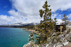 Lake Tahoe Teaser 1 (www.bazpics.com) Tags: california winter lake snow cold color colour nature water beauty canon lens landscape eos scenery nevada border scenic tahoe l late today picturesque teaser 6d 1740mmf4l