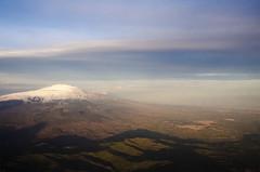 Sunset: Etna and Adrano (roberto_86) Tags: sunset shadow sky italy cloud clouds italia tramonto aircraft air ombra cielo shade sicily etna aereo sicilia d7000