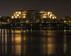 Golden Reflection (myahya09) Tags: longexposure nightphotography sea reflection building night canon photography lights bahrain flickr slowshutter muharraq 2014 g15 canong15