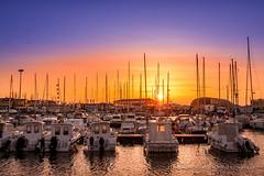 Il porto (Alessandro Argentieri) Tags: sunset sea italy harbor boat italia tramonto harbour porto fiumicino