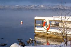 The lifesaver (gallserud) Tags: winter lake fog lago vinter sweden sverige nebbia inverno lifebuoy suecia dimma スウェーデン λίμνη ομίχλη fryken χειμώνασ σουηδία