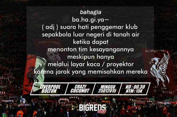 SOUL O' REDS #Bigreds @BIGREDS_SOLO: #NOBAR FA CUP @BIGREDS_IOLSC Reg.Solo | LFC vs Bolton | Minggu 25/1/15 |K.O 00.30 WIB| @CraCoSolo |HTM 10K | #ramekno s6Dd5yL4YQJ