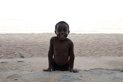 Smiling face (LaClaireMadeleine) Tags: africa lake beach smile smiling children kid sand child play malawi