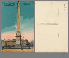 PARIS - L'Obélisque de Louqsor A.P. Place de la Concorde (bDom [+ 3 Mio views - + 40K images/photos]) Tags: paris 1900 oldpostcard cartepostale bdom