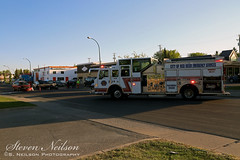 Red Deer Accident (S. Neilson Photography) Tags: red fire accident 10 engine deer pump alberta vehicle pierce motor rcmp paramedic velocity department mva collision pumper mvc