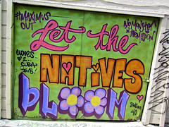 Let the Natives Bloom, San Francisco, CA (Robby Virus) Tags: sanfrancisco california street art monster out alley district bloom mission let maximus clarion natives station40