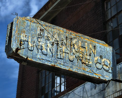 Franklin Furniture (Pete Zarria) Tags: old sign store louisiana neon decay