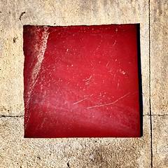 Red square (simonerossi129) Tags: red color square colore squares abstracts astratto rosso quadrato abstrac tombino tombini quadrati astratti