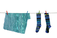 as i walked out one evening (brescia, italy) (bloodybee) Tags: ocean blue sea stilllife white water socks poetry waves stripes clips literature clothes laundry hanging clothesline pegs whauden 365project