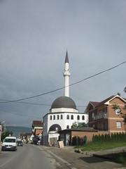Mosque and minaret, Novi Pazar, Serbia (Paul McClure DC) Tags: architecture minaret serbia mosque historic balkans novipazar raka sandak may2016
