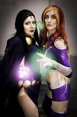 Raven and Starfire (Sintar) Tags: cosplay starfire cosplayer raven fanime teentitans fanimecon cosplaylove cosplayphotography ravencosplay starfirecosplay teentitanscosplay fanime2016