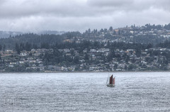 Sailboat - Victoria, Vancouver Island, British Columbia, Canada (Toad Hollow Photography) Tags: ocean seascape canada water sailboat landscape harbor bc waterfront britishcolumbia victoria vancouverisland sail hdr yyj oceanscape