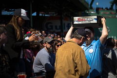 Coors Light Vendor in Fenway Park at Boston Red Sox Game (ambivalence_uk) Tags: people sun man beer boston spring baseball crowd redsox fenway fenwaypark carry ballpark coorslight baseballgame icecold fenwayparkfenwayyawkeywayyawkeybostonredsoxredsoxbaseballbaseballgame