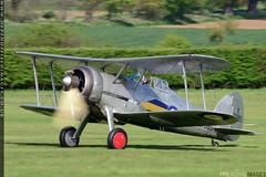 Gloster Gladiator (zoomerphil) Tags: old plane fighter wwii attack battle malta aeroplane ww2 warden shuttleworth raf gladiator gloster