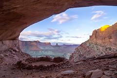 Sunrise Magic (merrittglenn) Tags: canyonlands falsekiva hikingbeforesunup