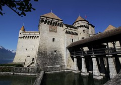 Chillon (gregderylo) Tags: tower castle switzerland drawbridge moat