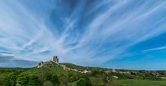 Corfe Castle (Russell Discombe) Tags: old blue england green castle clouds landscape nikon ruin sigma national dorset trust corfe corfecastle sigma1020mm nikond3300