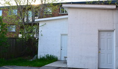 Diagonal Tension (diamondzieman) Tags: roof white building architecture doors shed diagonal tension diagonaltension