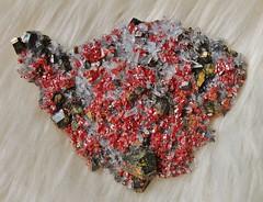 Realgar (Archangem) Tags: rock stone crystal pierre mineral geology realgar cristal gem specimen gemstone geologie gemme minraux minerai prcieuse gemmologie cristallographie
