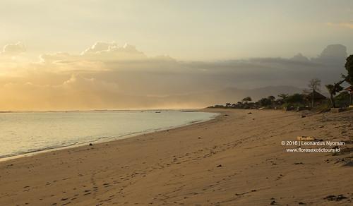 Sunset from Lakey beach HUU, Sumbawa island
