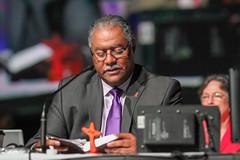 May 20 morning plenary Bishop Trimble gc2016 (United Methodist News Service) Tags: cross bible methodist generalconference gc2016 plenarybishop