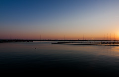 Pier (Dario Manuppella) Tags: trip morning sunset sea sunshine silhouette sunrise landscape see landscapes pier boat early ship wait molo marche sbt ascoli sanbenedettodeltronto tronto piceno catamarano