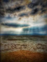 (Matt Brock ) Tags: blur sand rocks moody stones devon ethereal vignette hdr atmospheric darkclouds exmouth sunbeams eastdevon riverexe exeestuary mobilephotography iphoneography