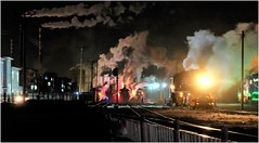 Fuxin Night Lights (Welsh Gold) Tags: china station night republic power shift steam peoples northwestern province locomotives preparations sy liaoning fuxin