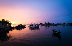 Ph Quc 05 (arsamie) Tags: pink blue sunset sea sky orange water island fire boat ship peace purple apocalypse calm vietnam serenity now phu quoc