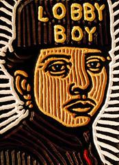 lobby boy (Lisa Brawn) Tags: wood portrait celebrity calgary art film illustration painting design graphics artist folkart canadian carving popart lifeaquatic alberta hollywood wesanderson darjeeling woodcut woodcarving woodblock brawn reclaimed royaltenenbaums salvaged upcycled fantasticmrfox lisabrawn grandbudapesthotel