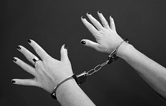 Female in handcuffs (JobsForFelonsHub) Tags: white black female prison handcuffs prisoner