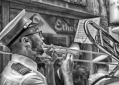 Trombonist (HelenBushe) Tags: street people feast candid band strangers malta player trombone brass staugustine trombonist valletta