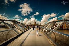 Girl on a Bridge (Mr Bultitude) Tags: millennium bridge london st pauls cathedral england thames river