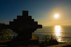 Sunset at Uluwatu Temple (eking86) Tags: ocean sunset shadow bali sun beach colors indonesia temple golden shine view uluwatu goldenhour uluwatutemple