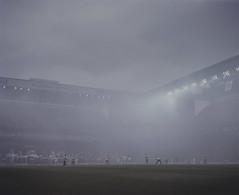 copenhagen derby (Anders Hviid) Tags: film analog copenhagen football kodak stadium soccer smoke fck negative portra derby supporters brndby parken 160 plaubel makina