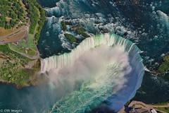High Flying Horseshoe. (Nelges) Tags: canonpowershotsx50 niagarafalls niagararegion helicopter water waterfalls