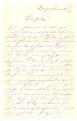 JS_to_Julie_S_1886_p.1 (Max Kade Institute for German-American Studies) Tags: handwriting script handwritten cursive sternberger kurrent