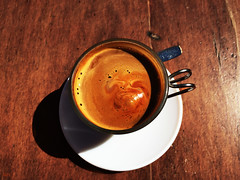 Caf cortado (Peter Schler) Tags: coffee cafe spain flickr kaffee cortado peterpe1