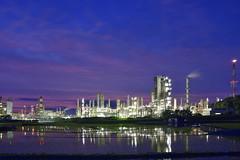 Taiyo Oil Plant, Kimuma, Ehime, JAPAN (Hiro_A) Tags: plant japan night nikon factory sigma shikoku oil taiyo 1770 ehime petrochemical kikuma 1770mm d7200