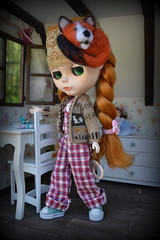 Blythe (pe.kalina) Tags: felted miniature sweater outfit doll handmade felt blythe dollhouse hairband basaak