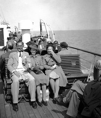 Enjoying a boat trip (vintage ladies) Tags: ladies portrait people woman man male smile smiling lady female glasses boat women ship pipe smoking 30s 30swoman 30swomen 30slady 30sman