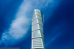 Turning Torso - MALMO SWEDEN (guyvitagasy) Tags: city trip blue sky building tower beauty skyline architecture photography cityscape sweden skytower paysage malm sude