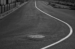 Curve (Santini1972) Tags: road city urban abstract texture circle blackwhite line asfalt nikond5100