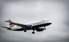 british airways (macmarkmcd) Tags: sky manchester nikon aircraft jet britishairways d300 55200vr airportpub