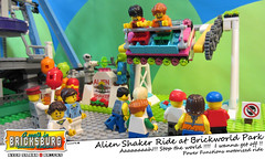 Alien Shaker Ride at Brickworld Park (EVWEB) Tags: park friends cars amusement power ride lego fairground fear alien shaker functions yell motorized bumpers minifigures 41133 bricksburg