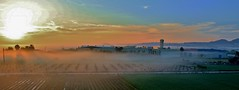 Misty Sunrise (nick.linda) Tags: dawn landscape panorama sunrise sun shadows mist mistymorning fog haze canon7dmkii canonefs1855 costablancaspain