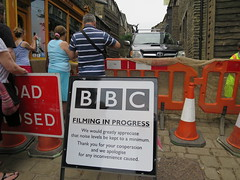 Sshhhh BBC filming (waldopepper) Tags: set mainstreet 1840s haworth penistonehill bbcfilming