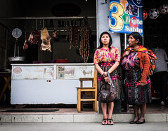 (ross_123) Tags: street travel ladies people girl lady america shopping lens xt fuji dress candid guatemala traditional centro central x latin stare local pancake santo chichicastenango indigenous toms 27mm xt10