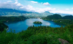 Lake Bled from Ojstrica (Tailentailsglow) Tags: slovenia bled